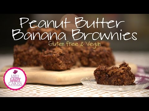 Peanut Butter Banana Brownies (Gluten Free & Vegan)