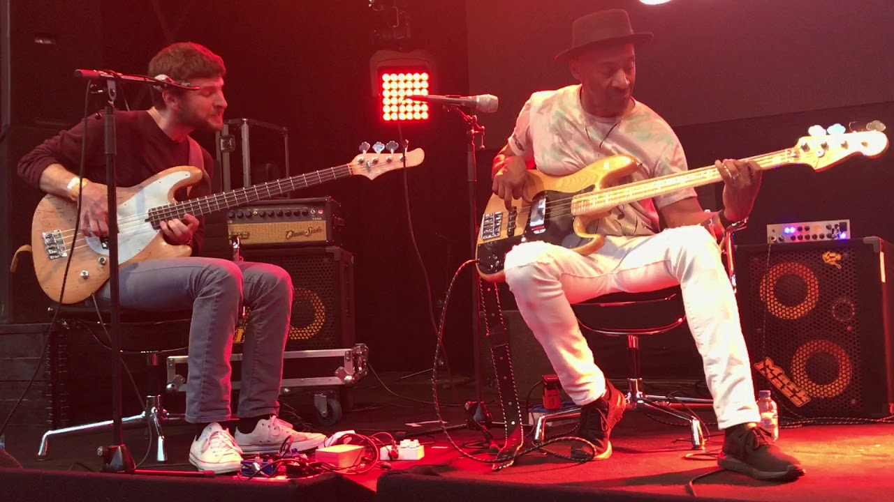 Michael League en Marcus Miller jam tijdens panel Jazz Bass Now op North Sea Jazz 2018
