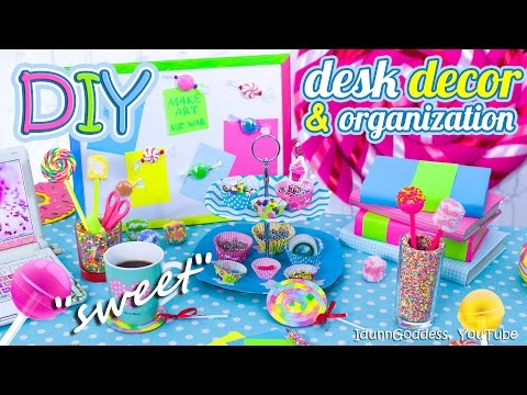 Thumbnail: DIY Desk Decor And Organization Ideas In Candy Style – How To Make Your Desk Looks Sweet
