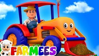 Traktoren Räder Go Round Und Runde | Cartoons Für Kinder | Kinderreime Für Babys Von Farmees