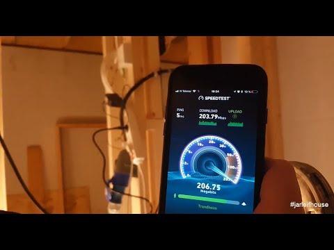 Slow week, but 200 Mbps fiber Internet at #jarleifhouse!!