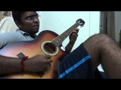 Chithram theme music in guitar