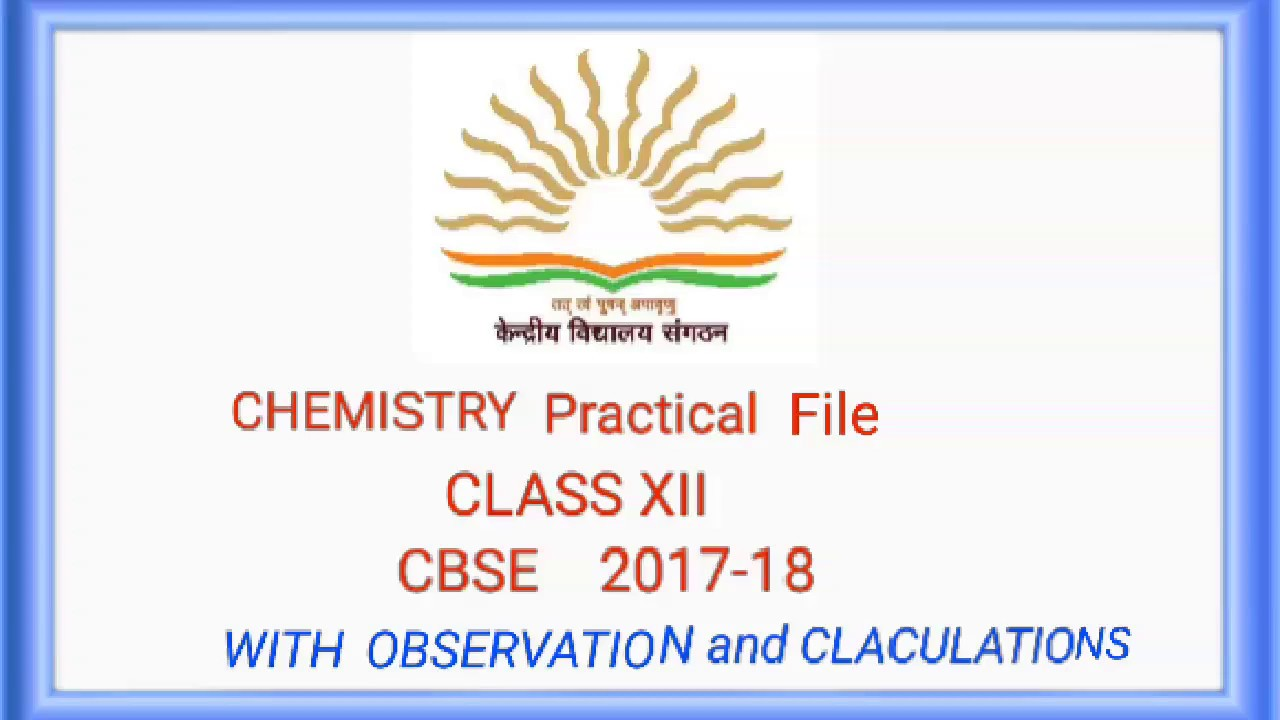 Practical file chemistry pdf download link observtion accurarte readings  cbse