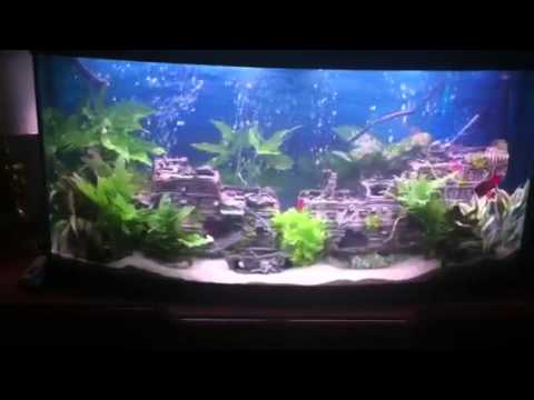 Shipwreck aquarium youtube for Aquarium decoration ship