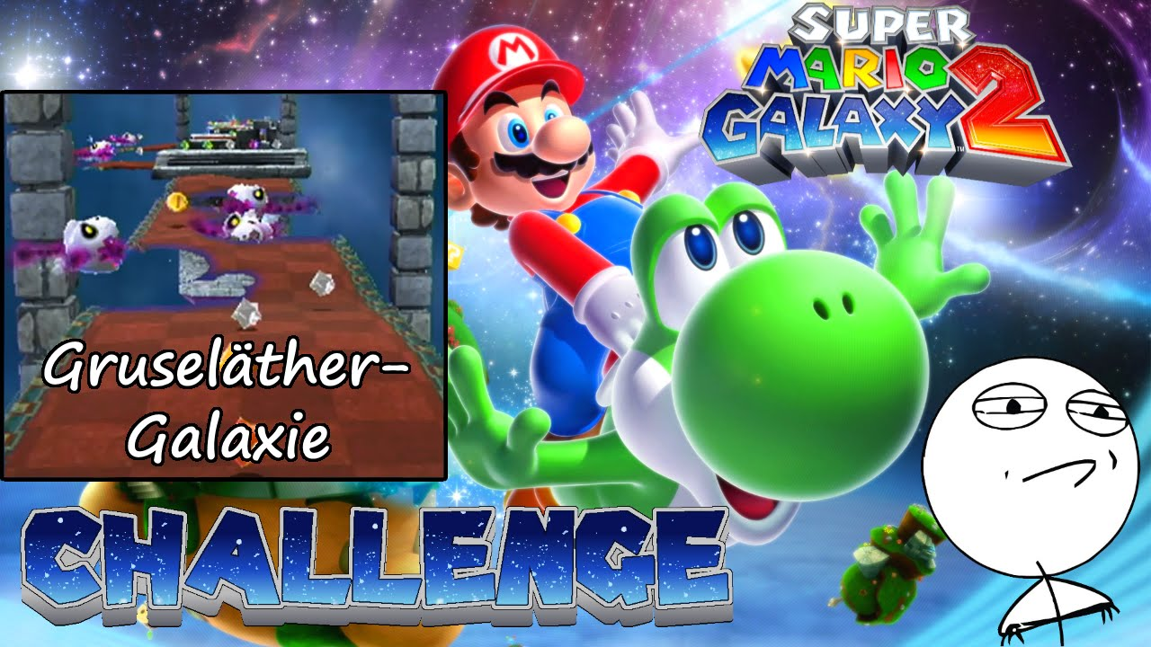 Let\'s Challenge Super Mario Galaxy 2 (Welt 3-3 Gruseläther-Galaxie): Auf  rotem Teppich keine Sprünge