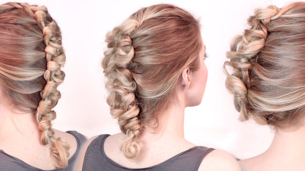 Tuto coiffure ROCK ★ Tresse africaine bouclée ★ Chignon cheveux mi long, long - YouTube