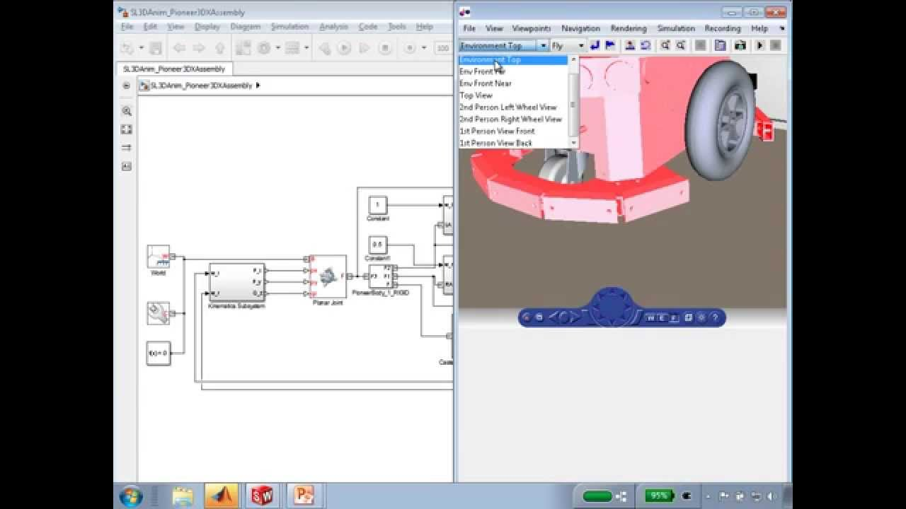 Mobile Robot Simulation for Collision Avoidance with Simulink