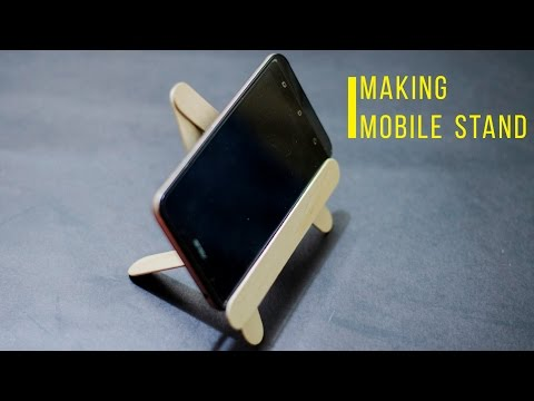 DIY Craft - How to make a mobile stand by using ice cream sticks | Easy & Simple |