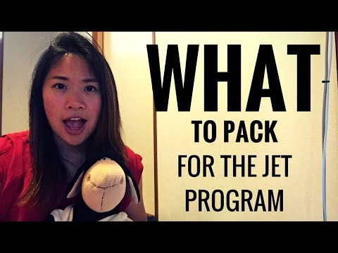 JET Program: WHAT TO PACK???