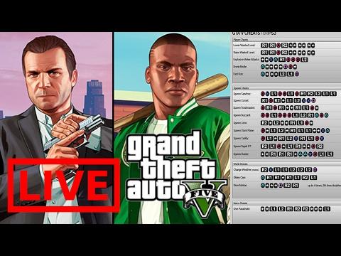 ALL GTA 5 CHEAT CODES | live Stream