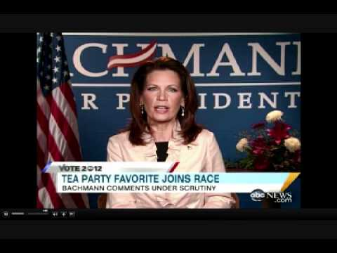 """Bachmann Spars with  Stephanopoulos over whether John Quincy Adams was a """"Founding Father"""""""