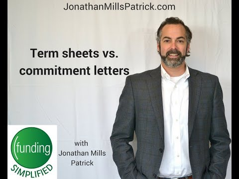 Term Sheets Vs  Commitment Letters
