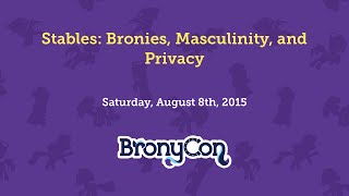 Stables: Bronies, Masculinity, and Privacy
