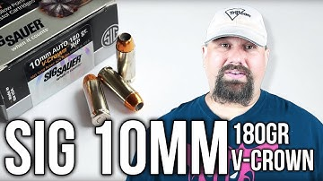 Sig Sauer 10mm 180gr V-Crown  Gel Test and Review