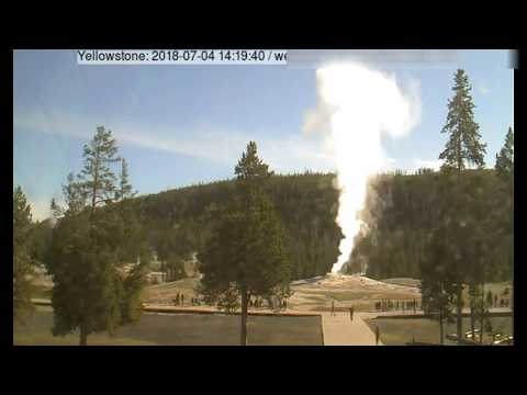 At 11:11 Steamboat Geyser Went off Norris Basin@Yellowstone July 4th 2018