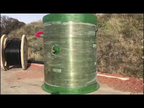 Блочно-модульное оборудование очистных сооружений с КНС из металла и стеклопластика