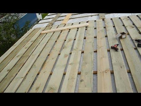 Как построить односкатную крышу своими руками поэтапно видео