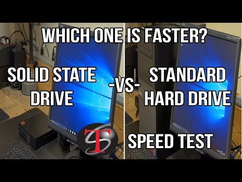 SPEED TEST: Standard Hard Drive vs Solid State Drive