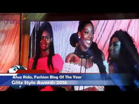 Afua Rida wins Fashion Blogger of the Year at Glitz Style Awards | @GhanaGist Video