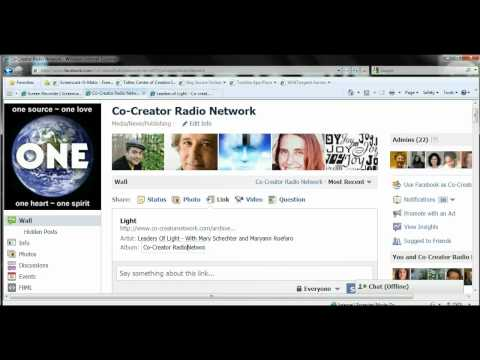 Adding an audio file to facebook