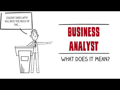 Business analyst, what does it mean?