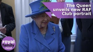 The Queen unveils new portrait for Royal Air Force Club