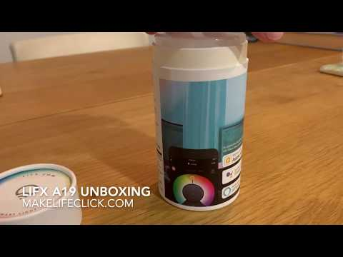 LIFX A19 Smart Bulb Review Unboxing Video
