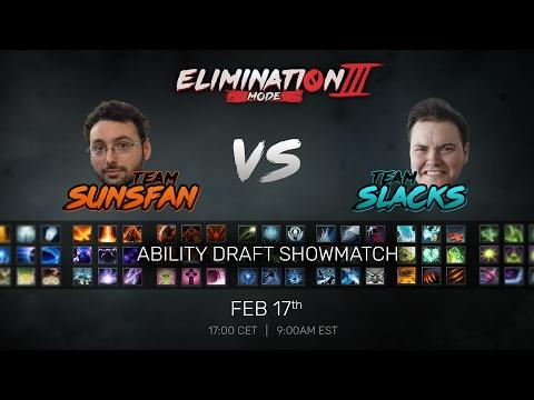 Elimination Mode 3 - Ability Draft Showmatch - Team SUNSfan vs Team Slacks
