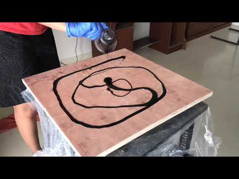 First DIY : making coffee table with amazing epoxy resin #epoxy #resin #DIY