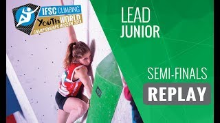 ifsc youth world championships moscow 2018   lead   semi finals   junior