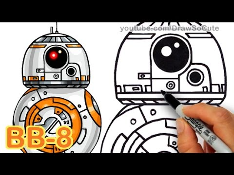 How To Draw Star Wars BB 8 Droid Step By The Force