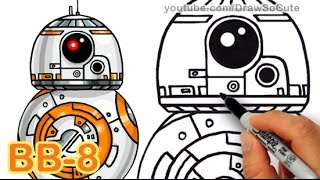 How to Draw Star Wars BB-8 Droid step by step