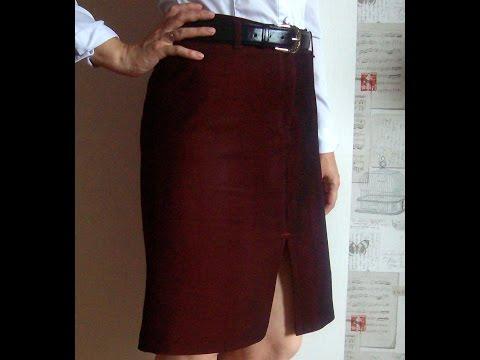 Как сшить юбку из брюк