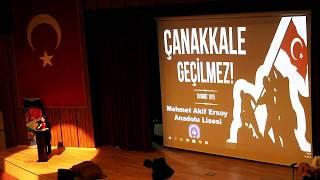 Çanakkale Biga Mehmet Akif Ersoy Anadolu Lisesi 18 Mart 2018 Gösterisi