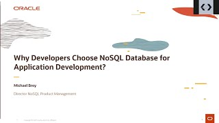 Why developers choose NoSQL Database for application development?