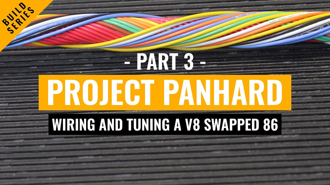 wiring and tuning project panhard part 3 1uzfe v8 powered toyota rh youtube com 1uzfe engine wiring harness 1uzfe wiring harness diagram