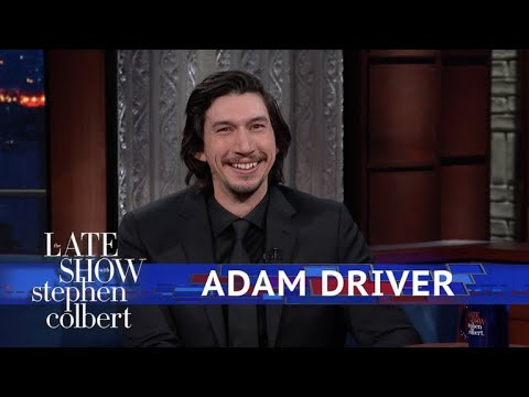 Adam Driver And Stephen Act Out A 'Star Wars'  Using Dolls