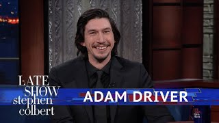 Adam Driver And Stephen Act Out A Star Wars Scene Using Dolls