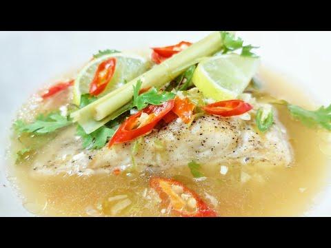 THAI STEAMED FISH   Steamed Fish In Lime Chilli Garlic Sauce   Basa Fish Steamed Recipe   Steam Fish