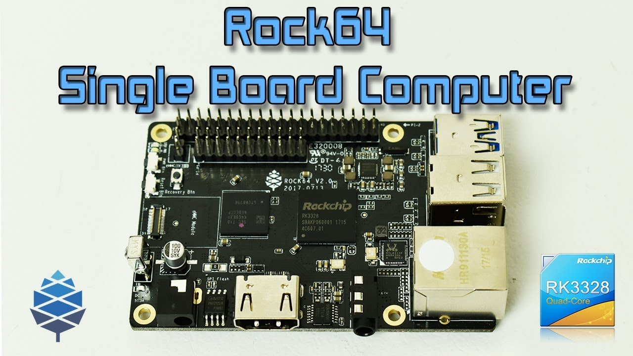 ROCK64 First Look And Android Test New Single Board Computer