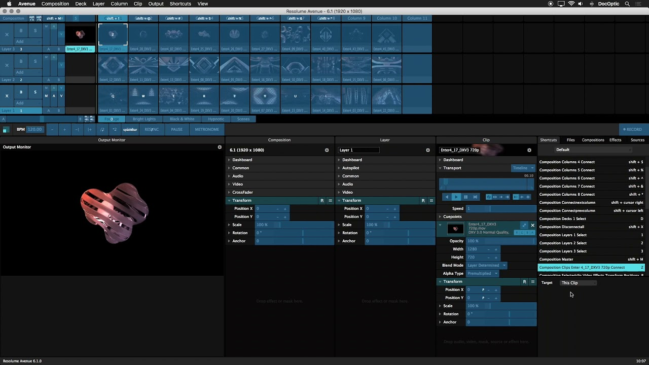 Resolume Video Training: 6 1 Keyboard Shortcuts