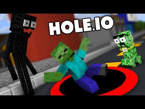 Monster School: Hole.io CHALLENGE - Minecraft Animation