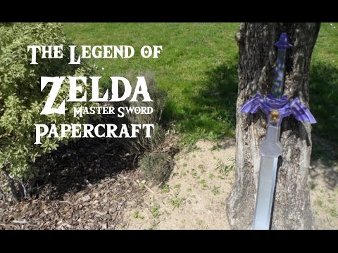 The Legend Of Zelda Papercraft: The Master Sword!