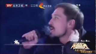 Дима Билан и Юлия Липницкая на масштабном новогоднем шоу в Пекине