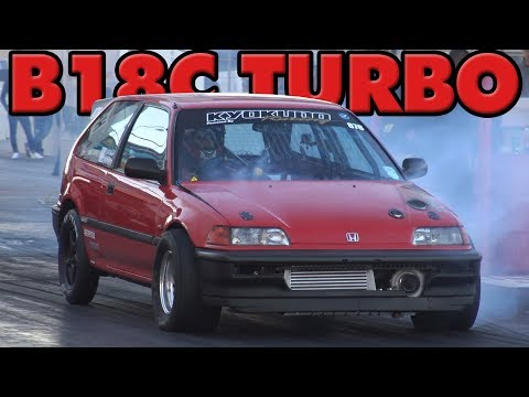 B18C Turbo Honda Civic EF Runs Mid-9s!