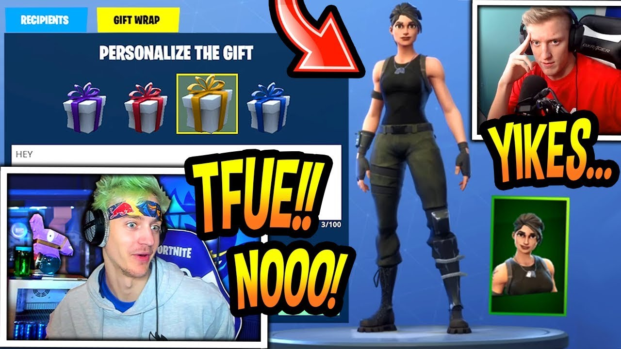 ninja-reacts-to-tfue-being-gifted-a-skin-commando-fortnite-funny-savage-moments