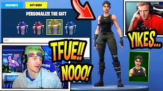 Ninja Reacts to TFUE Being *Gifted* a Skin! (COMMANDO!) Fortnite FUNNY & SAVAGE Moments