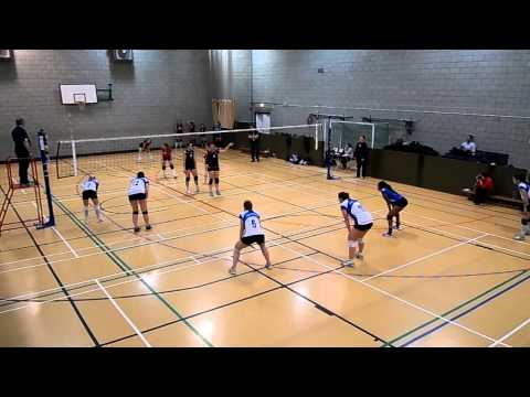 London Volleyball Women's Premier League Match: Lionhearts East vs Swiss Cottage. Set 1
