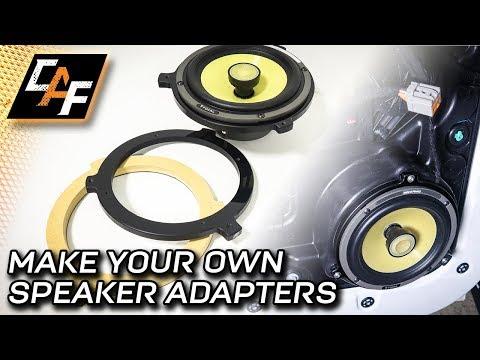 AVOID flimsy! Making THICK Custom Speaker Adapters