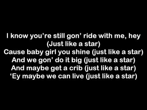 JCole  Like A Star Lyrics on Screen